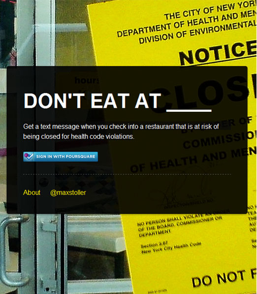 donteatat App tells you what restaurants NOT to eat at