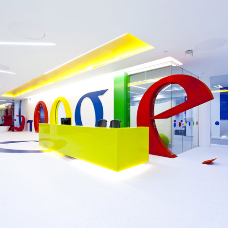 dzn Google office by Scott Brownrigg Interior Design 11 Photos: Googles Snazzy New London Offices