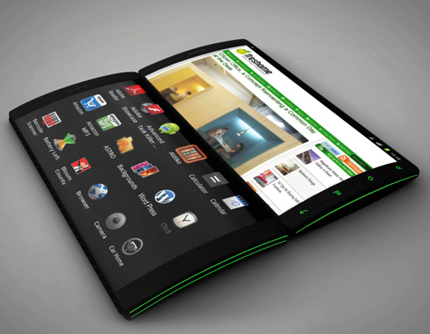 flip phone13 Android device with 3 flexible touchscreens? Oh yeah!