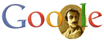 gibran11 hp Khalil Gibran Googles Second Doodle for 2011