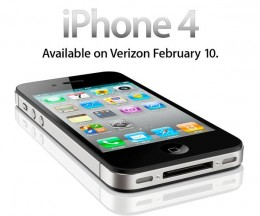 iPhone 4. Available on Verizon February 10 260x216 The Verizon iPhone    Confirmed for February 10th Launch
