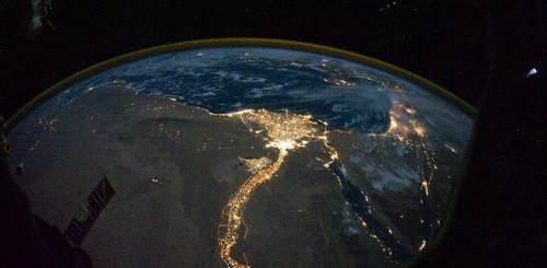 Egypt at night from Space