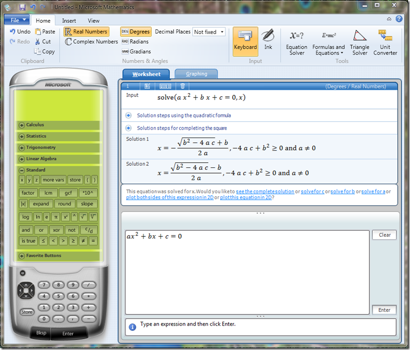 math4 Microsoft Mathematics is now free, the perfect tool for the math geek in you