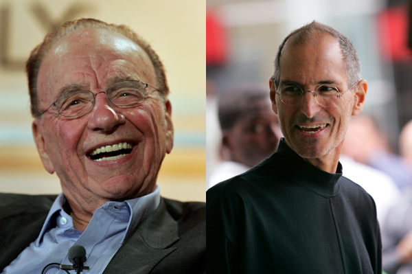 murdochjobs Steve Jobs will join Rupert Murdoch to launch his iPad newspaper, The Daily