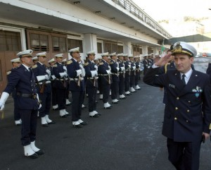 Polidoro welcomed by honour guard