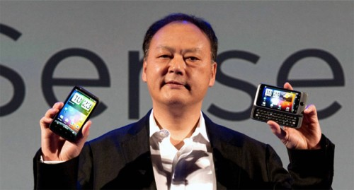 peter chou phones 500x269 HTC to set up chain of 100 exclusive retail shops in Taiwan