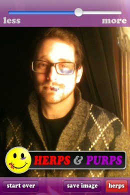 photo1 260x390 Herps and Purps goes viral as the grossest iPhone app yet