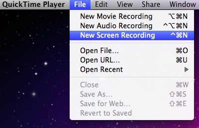 How to record screencast videos with mac osx this black screen recording window will open click the small arrow on the right hand side of the window to select what microphone you want to use ccuart Choice Image