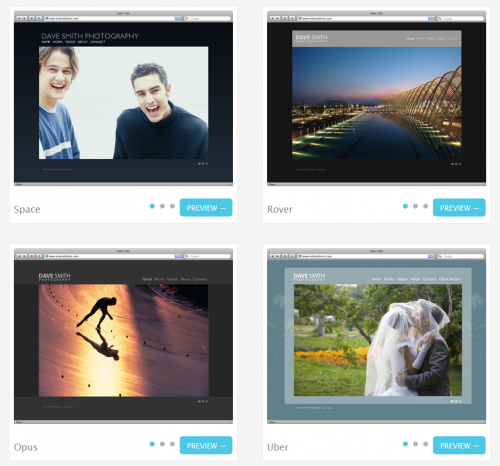 templates 500x466 Meet Pixpa, a killer online showcase tool for photographers