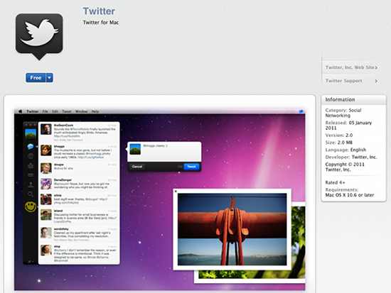 twitter A Tour of the new Mac App Store: Our first impressions