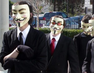 v for vendetta 300x233 Five UK Men Arrested Over Anonymous Wikileaks Attacks
