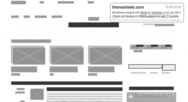 wirift TNW 600x327 Turn websites into wireframes with Wirify