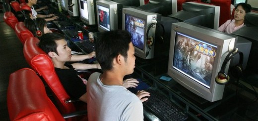 Chinese gamers play online computer game