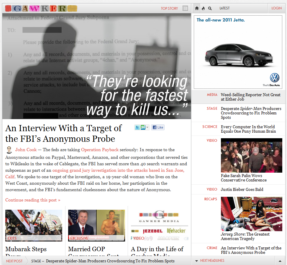 2011 02 11 1446 Forget their new layout, check out the very first Gawker design
