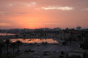 Sunrise in Tripoli Libya