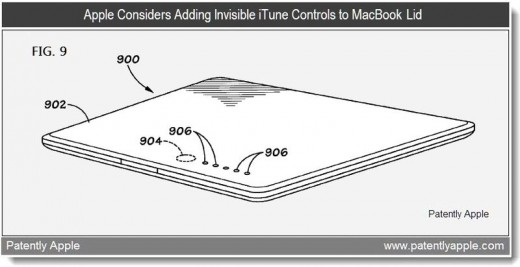 6a0120a5580826970c014e86498d87970d 800wi 520x267 Apple looks at invisible media player controls for MacBook lids