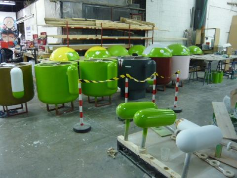 A behind the scenes look at Googles MWC Android stand
