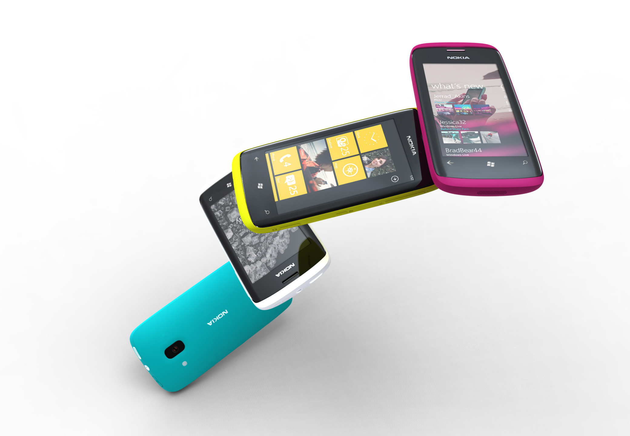 Nokia Officially Unveils More Windows Phone 7 Handset Renders [Updated]