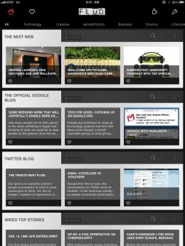 FLUD iPad Feed View 260x346 FLUD. Grand iOS news reader launching flood of new features