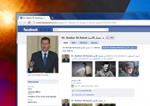 Facebook Bashar 300x211 Facebook and YouTube Unblocked in Syria Today [Updated]