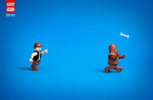 Lego Star Wars Ad Han and Chewbacca 580x382 520x342 Morning dose of awesome: LEGOs new Star Wars ads