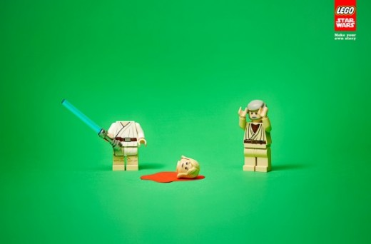 Lego Star Wars Ad Luke Killed 580x382 520x342 Morning dose of awesome: LEGOs new Star Wars ads