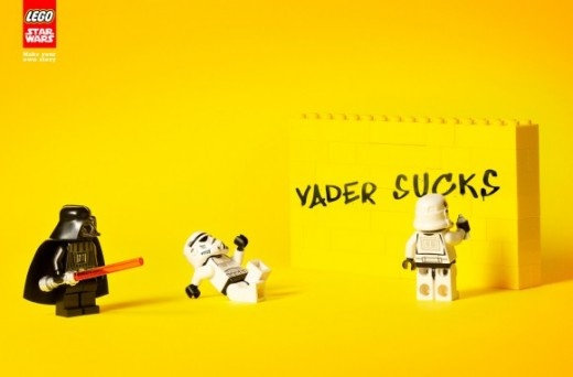 Lego Star Wars Ad Vader Sucks 580x382 520x342 Morning dose of awesome: LEGOs new Star Wars ads