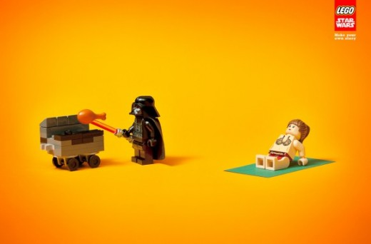Lego Star Wars Ad Vader and Leia 580x382 520x342 Morning dose of awesome: LEGOs new Star Wars ads