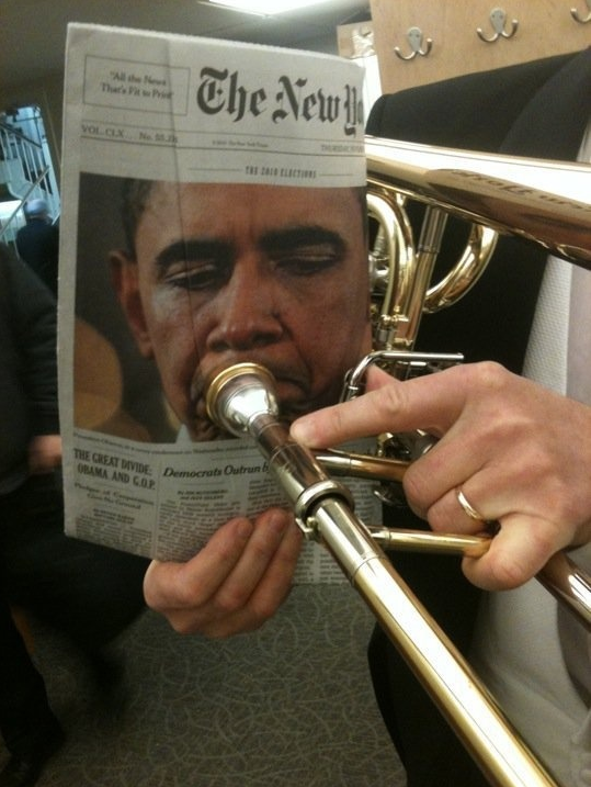 Picture 1033 Obama the Trumpetist