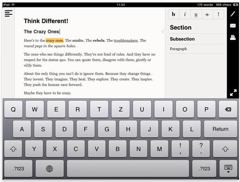 Communications essay editor app