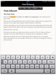 Essay for iPad