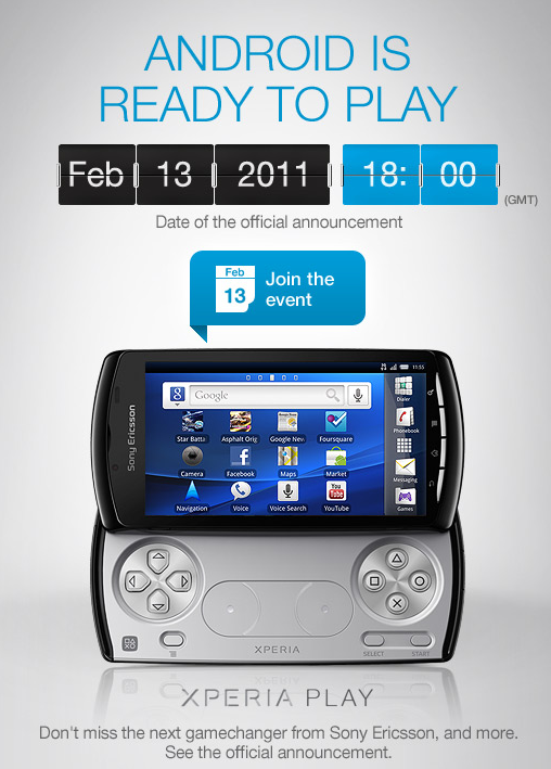 Screen shot 2011 02 07 at 07.23.08 Sony Ericsson launches Xperia Play Facebook page, puts live official advertisement