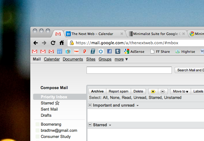 Minimalist Suite: Subtract to your heart's content from Gmail and Google Calendar