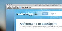 Screen shot 2011 02 08 at 3.32.33 PM 260x130 Codesnipp.it: Reborn from ashes into a great code sharing repository
