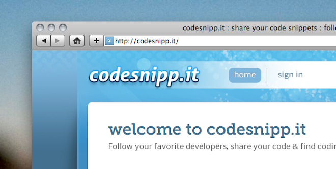 Codesnipp.it: Reborn from ashes into a great code-sharing repository