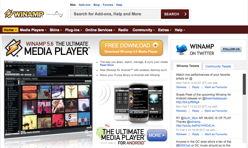 Winamp Forums attacked, email addresses stolen