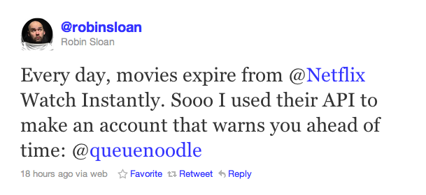 Screen shot 2011 02 16 at 12.21.44 Twitter employee creates Netflix mashup to notify users of expiring Instant Movies