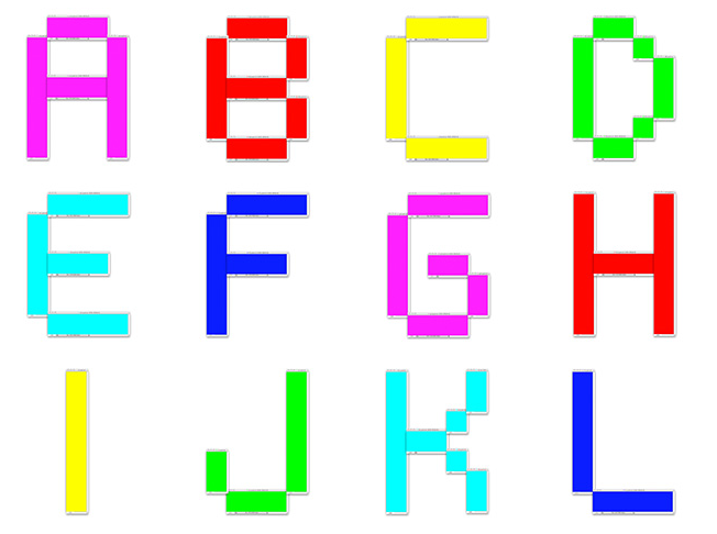 The Alphabet Font Created Using 114 Photoshop Files