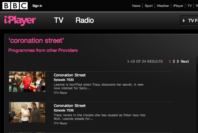 Screen shot 2011 02 17 at 15.23.01 BBC iPlayer now features programmes from other on demand services