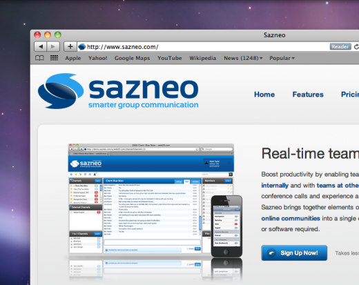 Screen shot 2011 02 21 at 13.39.44 520x413 Sazneo unveils real time group collaboration for the iPhone
