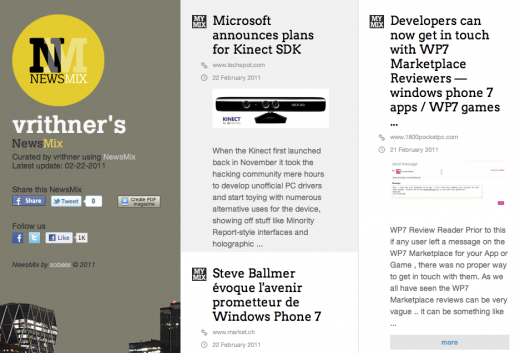 Screen shot 2011 02 23 at 13.11.16 520x353 Social iPad magazine NewsMix beats rival Flipboard in leaping to the Web