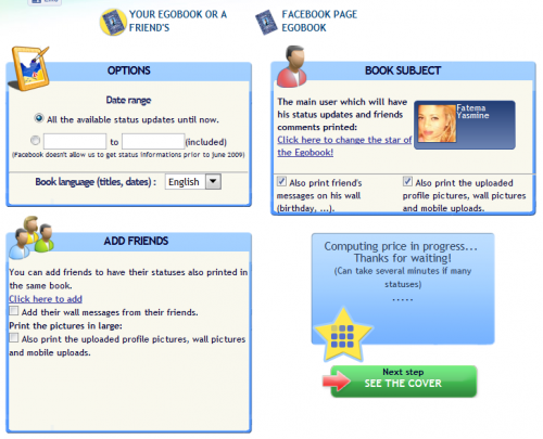 a1 500x405 Egobook: Turn your Facebook Profile into a printed book