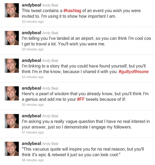 andybeal How to Become a Twitter Guru in 6 Easy Tweets