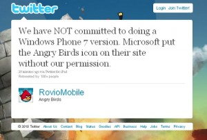 angry birds tweet1 300x204 Angry Birds coming to Windows Phone 7