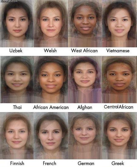 average faces cut Research creates the Average Face for countries across the globe