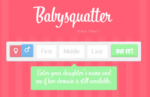 babynames 520x336 Register your childs domain name first with Babysquatter