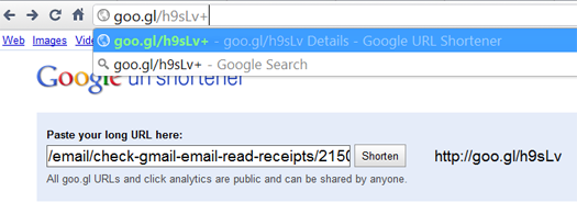 check How to use goo.gl to see if your email has been read