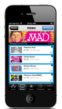 cnvideo 220x384 5 iPhone apps for Cartoon Junkies