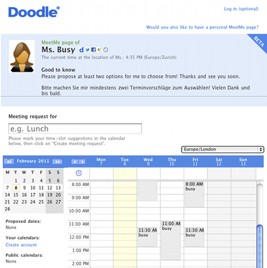 doodle Arrange one to one meetings with ease using Doodles new MeetMe