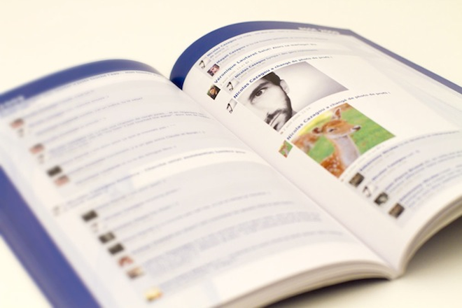 Egobook: Turn your Facebook Profile into a printed book